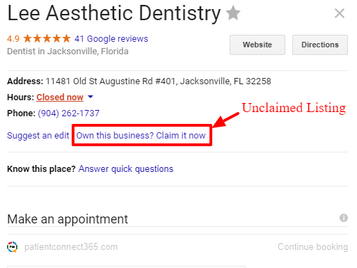 claim your google business listing